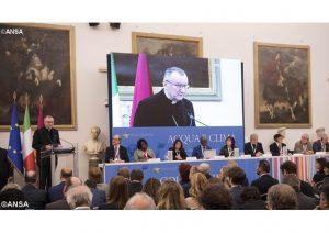 """Card. Parolin lê mensagem do Papa aos participantes do Congresso """"Água e Clima"""" - ANSA"""