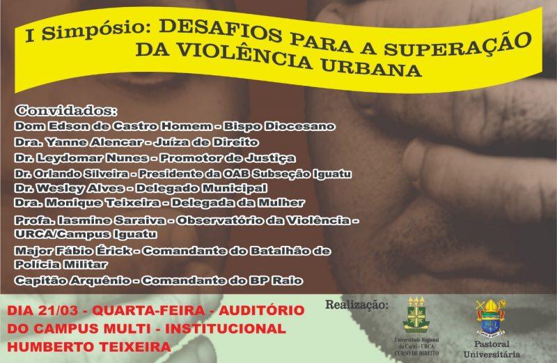 Simpósio sobre a Violência Urbana na URCA