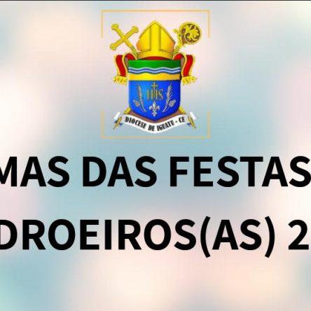 TEMAS DE FESTAS DOS PADROEIROS 2019