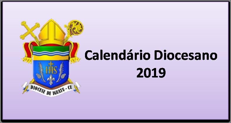 CALENDÁRIO DIOCESANO 2019